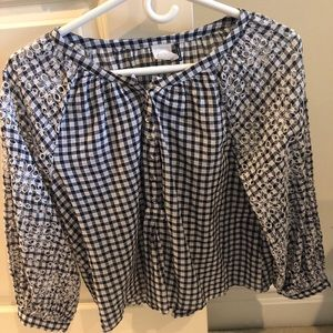 Anthropologie Checkered Top